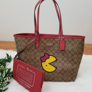 NWT Signature Limited Edition Coach Ms Pacman Tote